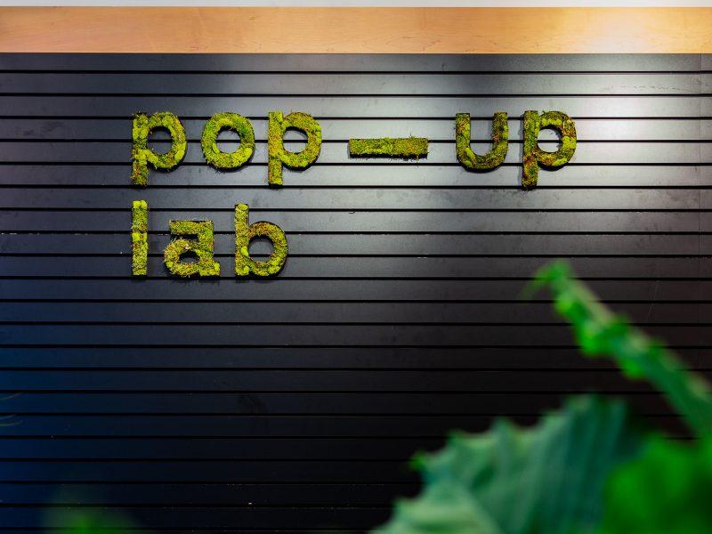 enseigne pop-up lab